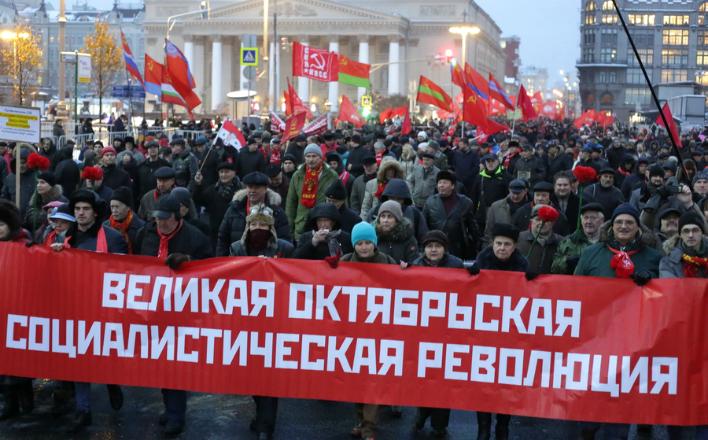 7 ноября 2019 г. в Москве проводятся торжественное шествие и митинг, посвященные 102-й годовщине Великого Октября