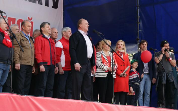 Москва встречает Первомай