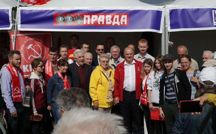 Г.А.Зюганов посетил Московский фестиваль прессы