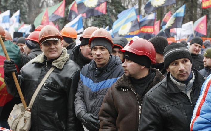 Украинские шахтеры заблокировали таможенный пункт на границе с Польшей