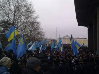 Cтолкновения в Симферополе