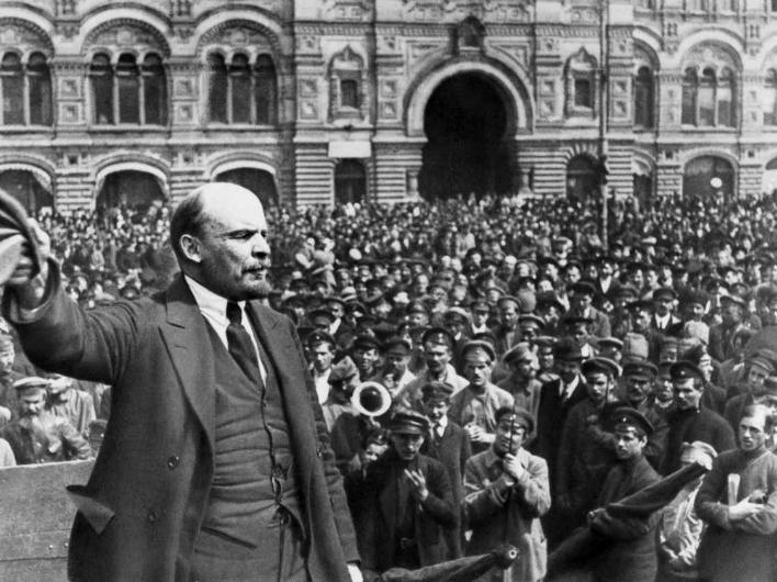 Цветы - Ленину