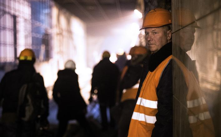 Забастовка метростроевцев в Москве