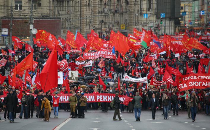Хроника забастовок и митингов в России в феврале