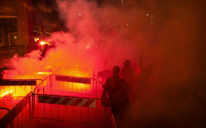 В Черногории начались протесты против вступления в НАТО