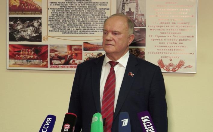 """Г.А.Зюганов: """"Выборы - это честные, откровенные дебаты"""""""