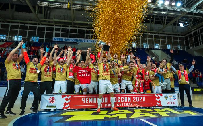 Мини-футбольный клуб КПРФ стал сильнейшим в России