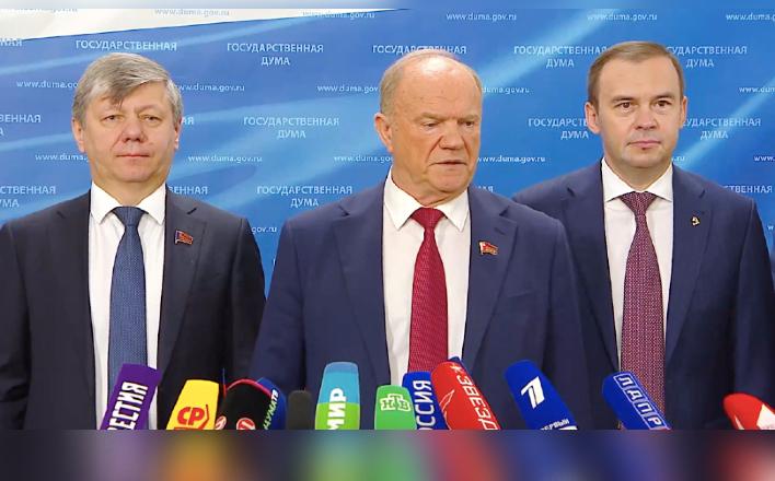 """Г.А.Зюганов: """"Мы заинтересованы в очень конструктивной совместной работе с правительством"""""""