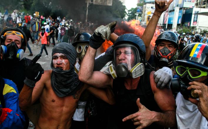 Венесуэльские оппозиционеры сбросили маски